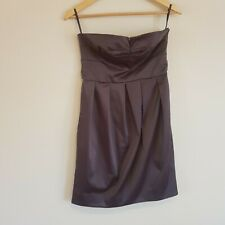 Zimmermann Size 2  ( Aus 12 ) Steel Grey Strapless Tulip Dress