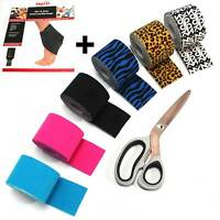 KINESIO PAKET 6x Kinesiologie Tape + Bandage + Schere Physio Sport TAPE ~mp398 +