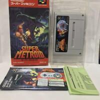 Nintendo SUPER Famicom SUPER METROID box manual full set tested working SFC SNES