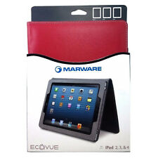 New Marware EcoVue Protective Sleep/Wake Folio Case for iPad 2/3/4 - Red