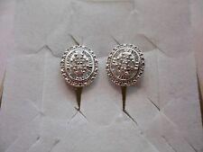 White Diamond Round & Baguette Earrings in 925 Sterling w/Omega Backs-0.50 Carat