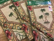 TROPICAL PALM Tapestry Table Runner - MANUAUL WOODWORKERS - MADE IN USA !!!!!