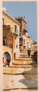 ALDO RISO serigrafia 45 x 100  Arte moderna e contemporanea Ustica.