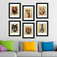 Decoración de la Pared Animales Marcos periódico Colección Arte Café Oficina Decoración del hogar
