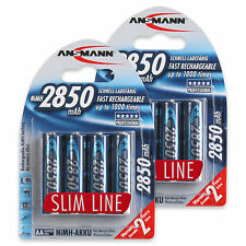 ANSMANN 2850 mAh AA High Capacity Rechargeable Batteries 8 Pack