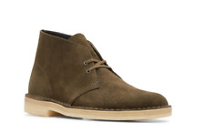 Clarks Original's Men's Dark Olive Suede Desert Boot 26147292