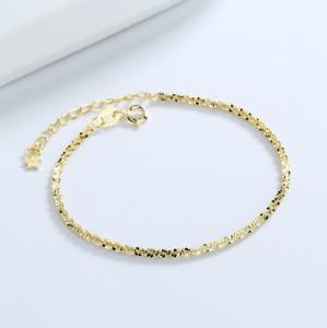 "Women's 925 Sterling Silver Diamond Cut 1.8mm Rope Chain Bracelet 7.5"" Italy I64"