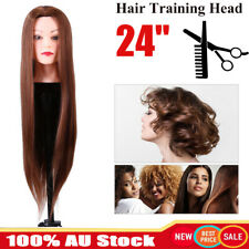 "24"" Salon Hairdressing Practice Training Head Long Hair Mannequin Doll Clamp"
