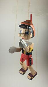 Pinocchio Marionette Wooden Hand-Made Puppet disney pinochio