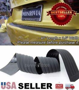 """41"""" Black Rear Bumper Rubber Guard Cover Sill Plate Protector For Mitsubishi"""