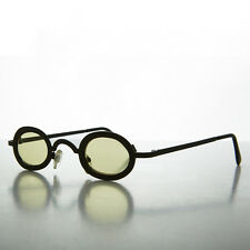 Oval Victorian Steampunk Spectacle Sunglass with Yellow Lenses  - Desert