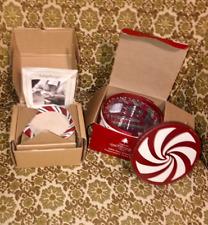 New Longaberger Peppermint Twist Coasters, Basket, Liner, Protector, Lid Bundle