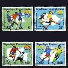 Football Centrafrique (45) série complète 4 timbres oblitérés