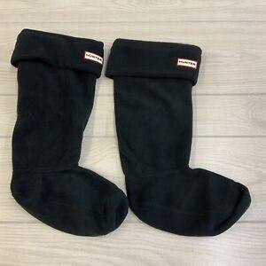 Hunter UA53000AAA Boot sock Women's Size Large Black