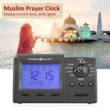 Islamic Muslim Prayer Clock Automatic Azan Athan Wall Ramadan Gift Decor Black