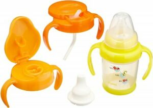 Pigeon sippy cup set Goods For Baby Unisex Yellow And Orange Multi color