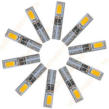 10 x T5 2-5630-SMD LED Warm White Dashboard Gauge Light Car Signal bulb 12V DC