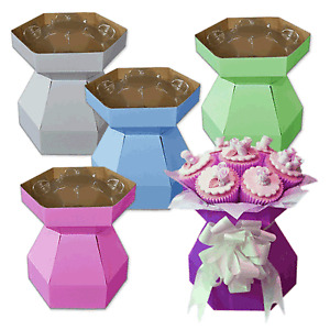 TWO Cupcake Bouquet Boxes for cupcakes with invisiTray™