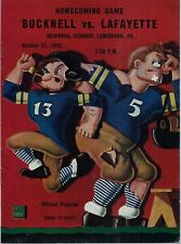 1942 Bucknell University Homecoming Game Football Program v. Lafayette & Ticket