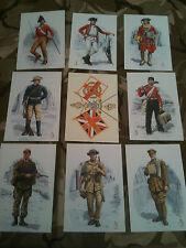 Set x 9 Military Postcards Duke of Wellingtons Regiment West Riding Alix Baker