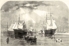 Civil War Union Navy Captures British and Confederate Ships