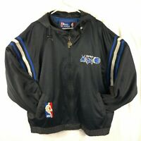 Vintage 90's NBA Orlando Magic Pro Player Zip Jacket L Shaq Penny Basketball