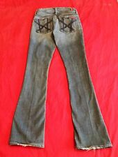 Women's Rare Seven 7 For All Mankind Jeans, Size 25 Distressed Embroidered