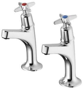 Armitage Shanks Sandringham 21 Kitchen Sink High Neck Pillar Taps Crossheads