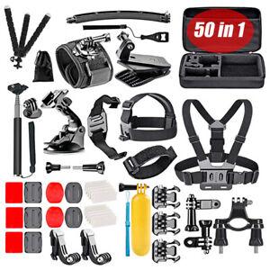 50 in 1 Action Kamera Zubehör Kit Set Halterung für GoPro Hero 9 8 Max 7 6 5 4