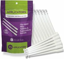 Disposable Vaginal Suppository Applicators 15 Count Individually Wrapped