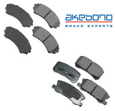 For Mitsubishi Endeavor Montero Pair Set of Front & Rear Disc Brake Pads Akebono
