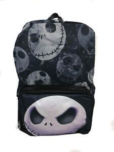 """Disney Nightmare Before Christmas Jack Skelington 16"""" School Backpack"""
