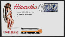 1950s Lionel Trains Hiawatha & Pin Up Girl Featured on Collector Envelope *A451