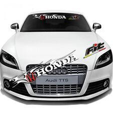 Windshield Banner Reflective Decal Honda FIT logo For Honda Racing Car Sticker