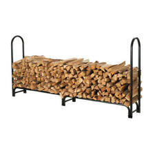 Indoor Outdoor Fireplace Firewood 8 FT Full Face Cord Log Storage Holder Rack