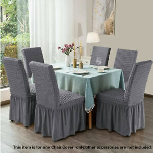 Stretchy Chair Covers with Skirt Removable Wash Anti-Dirty Home Decor Party Chic
