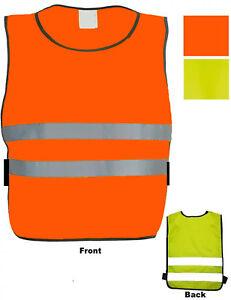 Sport Vest Reflective Running Tabard Hi Visibility Safety Orange Yellow S M L XL