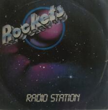 "7"" 1982 Italy Press Cosmic pop rare in VG + +! Rockets: stazione radio"