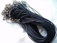"Wholesale Lots 50Pcs Black Wax Cords Necklace Cord 18"" 2mm Connector For Pendant"