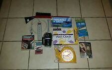 estate lot of hardware/household items: 8 new in orig boxes/cards; 2 used items