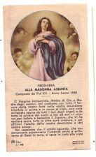Preghiera alla Madonna Assunta  con preghiera  (s299)