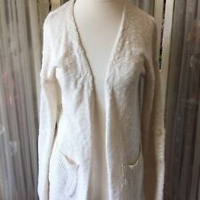 Mo:Vint Anthropologie Knit Oatmeal Sweater Cardigan 3/4 Sleeves Small