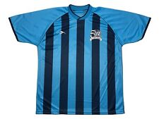 Score 50 Years AYSO American Youth Soccer Jersey Blue Striped Size Adult Small
