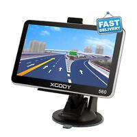Car GPS 5'' SAT NAV 8GB Navigation Navigator System LIfetime Maps Updates FM