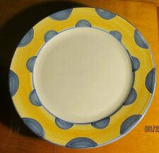 Made in Italy ~ Ceramic Chop Plate/Charger ~ Handpainted Border Yellow & Blue
