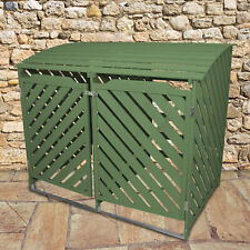 Mülltonnenbox 2er Tonnen Müllbox Mülltonnenverkleidung Holz Gartenbox 2 x 240L