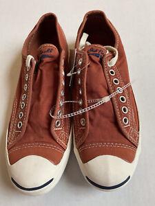 Converse JACK PURCELL Shoes Men 7.5 Women 9.5 Vintage Wash Terracotta Unisex