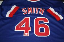 CHICAGO CUBS LEE SMITH  46 SIGNED AUTO CUSTOM BLUE JERSEY 478 SAVES WITNESS! fd133abd2