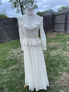 Vintage Wedding Dress Iglwu Size 6/8 Union Made