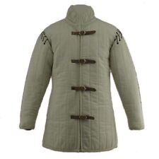 Medieval Gambeson thick padded coat Aketon vest Jacket Armor SCA COSTUMES DRESS